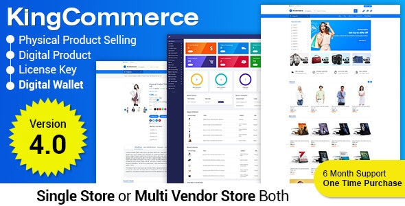 KingCommerce – All in One Single and Multivendor Eommerce Business Management System