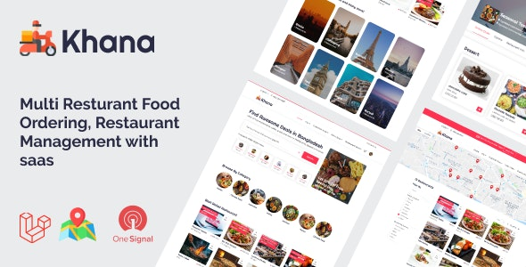 Khana – Multi Resturant Food Ordering, Restaurant Management With Saas