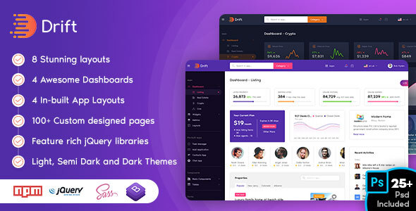Drift – Admin Dashboard Template